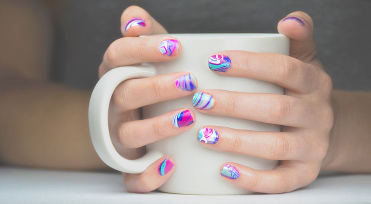7 Steps For Water Marble Nails At Home Brides And You